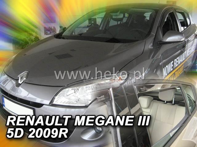 Heko • Ofuky oken Renault Megane III 2008- (+zadní) • sada 4 ks