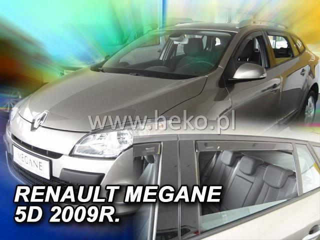 Heko • Ofuky oken Renault Megane III 2009- (+zadní) Grandtour • sada 4 ks