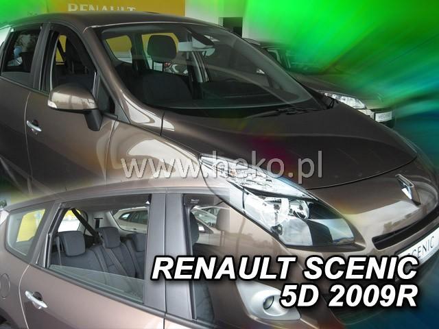 Heko • Ofuky oken Renault Scenic 2009- (+zadní) • sada 4 ks