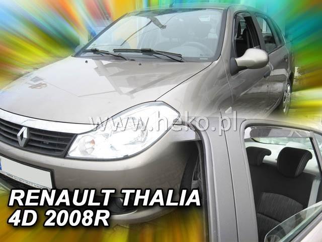 Heko • Ofuky oken Renault Thalia II 2008- (+zadní) • sada 4 ks