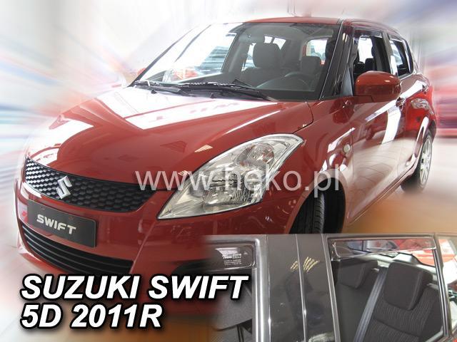 Heko • Ofuky oken Suzuki Swift 11/2010- (+zadní) • sada 4 ks