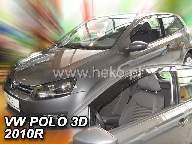 Heko • Ofuky oken Volkswagen VW Polo 3D 2009- • sada 2 ks
