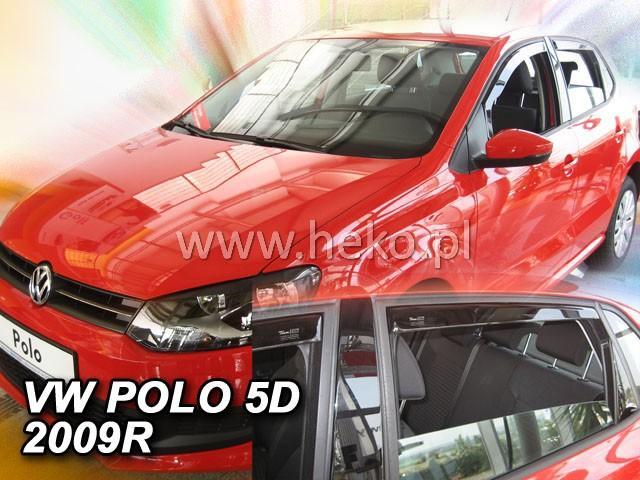 Heko • Ofuky oken Volkswagen VW Polo 2009- (+zadní) • sada 4 ks