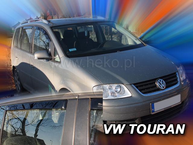 Heko • Ofuky oken Volkswagen VW Touran 2003- (+zadní) • sada 4 ks