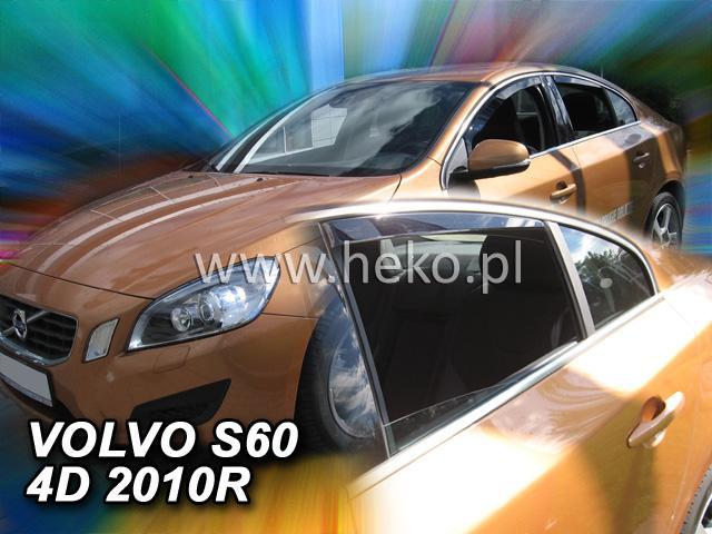 Heko • Ofuky oken Volvo S60 2010- (+zadní) • sada 4 ks
