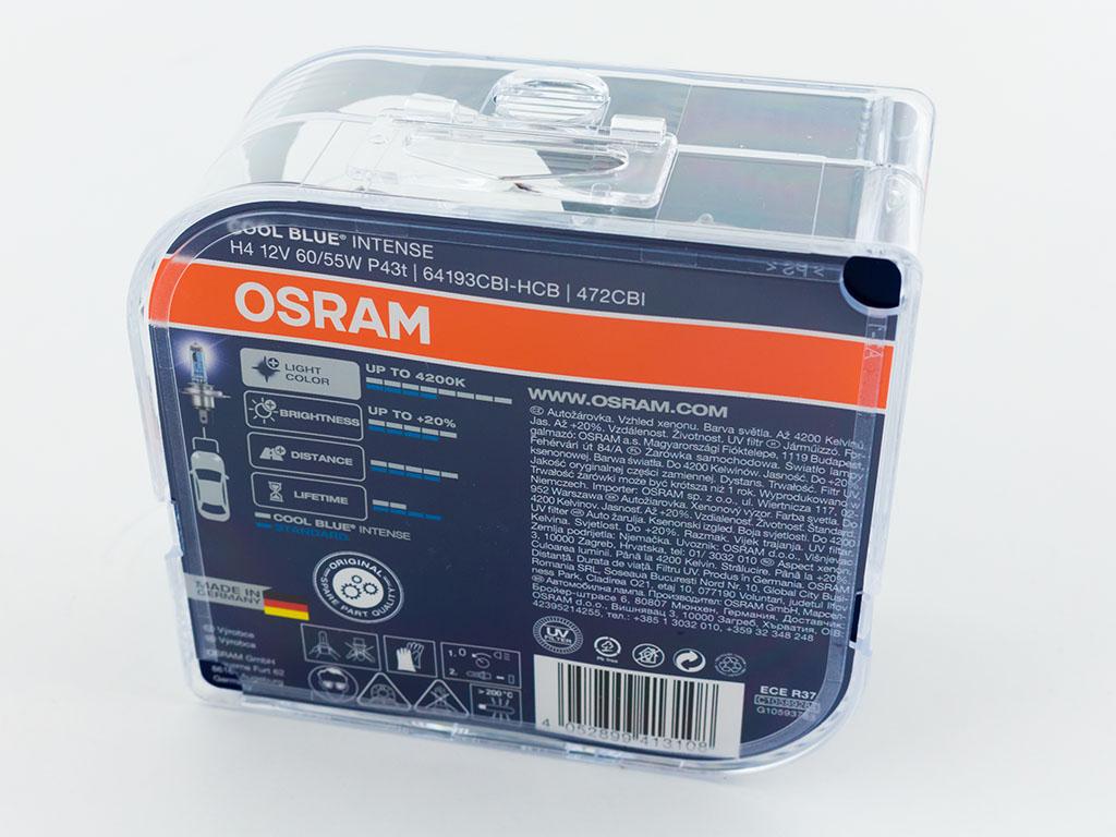 Autožárovky OSRAM H4 Cool Blue Intense 12V 60-55W Xenon P43t