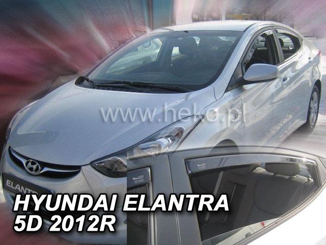 Heko • Ofuky oken Hyundai Elantra 2010- (+zadní) • sada 4 ks
