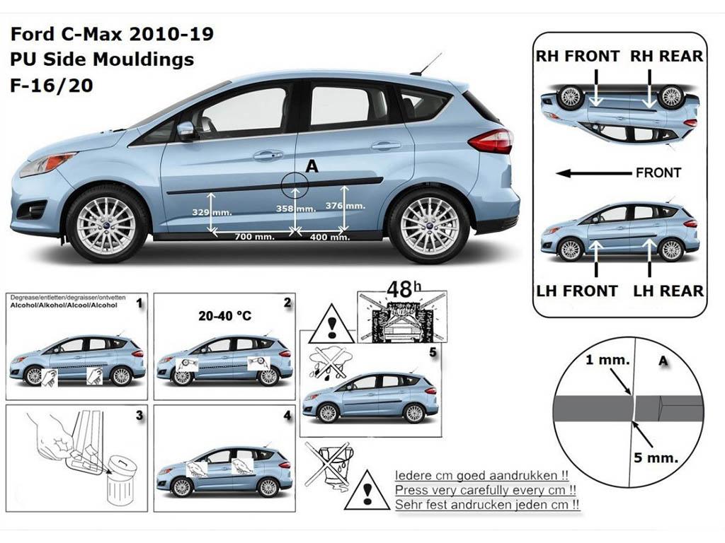 Rider • Boční lišty dveří Ford Focus C-Max 2011-