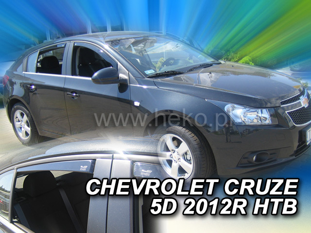 Heko • Ofuky oken Chevrolet Cruze 2011- (+zadní) • sada 4 ks