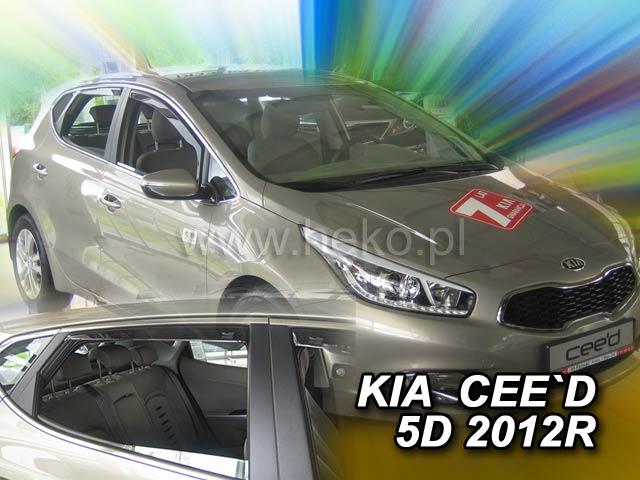 Heko • Ofuky oken Kia Ceed 2012- (+zadní) • sada 4 ks
