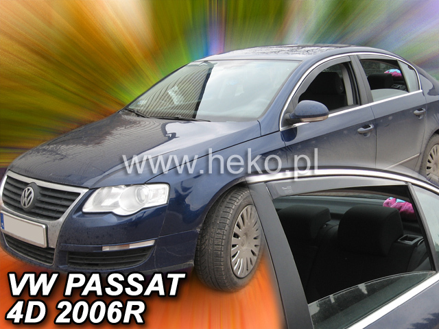 Heko • Ofuky oken Volkswagen VW Passat B7 2010- (+zadní) sedan • sada 4 ks