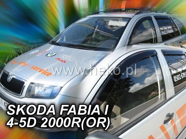 Heko • Ofuky oken Škoda Fabia I 2000- (+zadní) • sada 4 ks