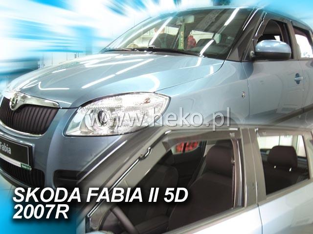 Heko • Ofuky oken Škoda Fabia II 2007- htb (+zadní) • sada 4 ks