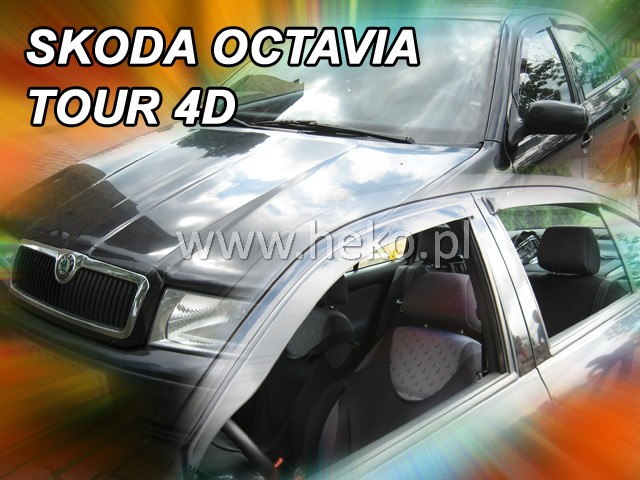 Heko • Ofuky oken Škoda Octavia I 1997- sedan (+zadní) • sada 4 ks
