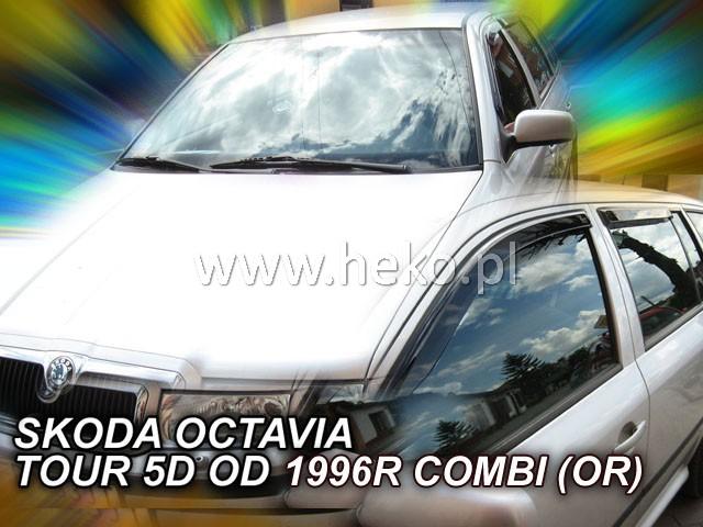 Heko • Ofuky oken Škoda Octavia I 1997- combi (+zadní) • sada 4 ks
