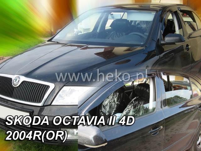 Heko • Ofuky oken Škoda Octavia II 2004- htb (+zadní) • sada 4 ks