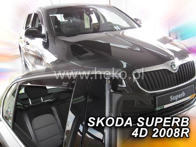 Heko • Ofuky oken Škoda Superb II 2008- sedan (+zadní) • sada 4 ks