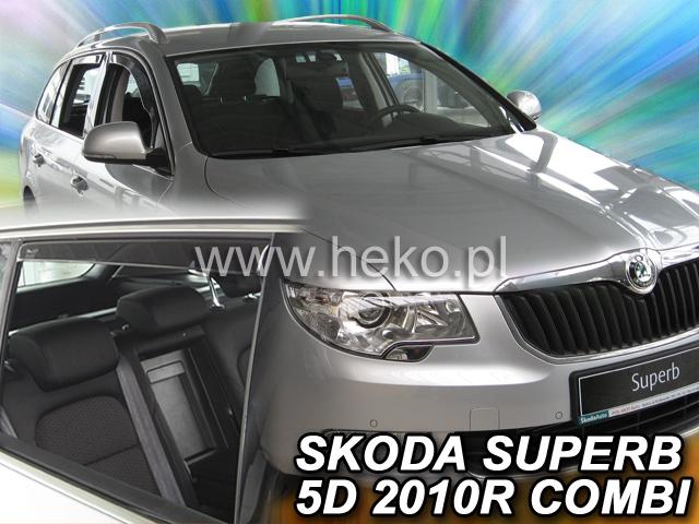 Heko • Ofuky oken Škoda Superb II 2009- combi (+zadní) • sada 4 ks