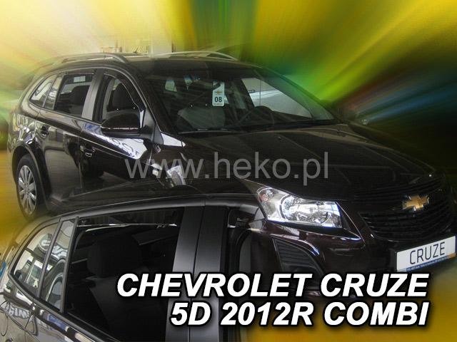 Heko • Ofuky oken Chevrolet Cruze 2012- (+zadní) combi • sada 4 ks