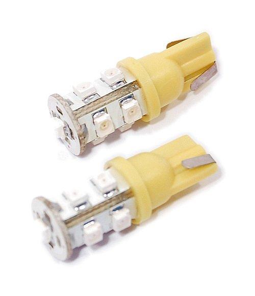 Compass • Žárovka 9 SUPER LED 12V T10 oranžová 2 ks