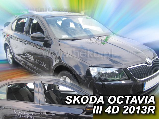 Heko • Ofuky oken Škoda Octavia III 2013- (+zadní) ltb • sada 4 ks