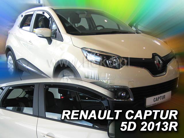 Heko • Ofuky oken Renault Captur 2013- (+zadní) • sada 4 ks