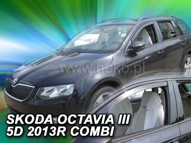 Heko • Ofuky oken Škoda Octavia III 2013- combi • sada 2 ks