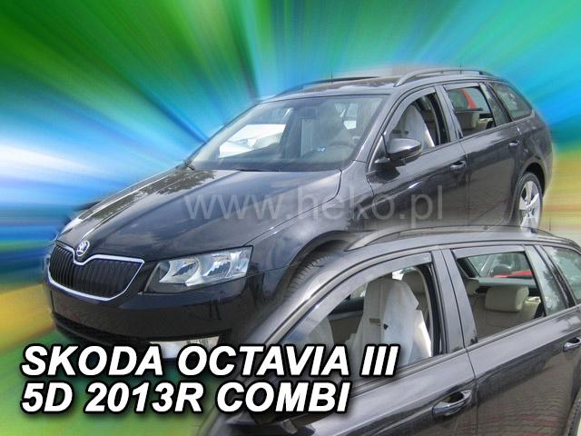 Heko • Ofuky oken Škoda Octavia III 2013- combi (+zadní) • sada 4 ks