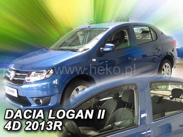 Heko • Ofuky oken Dacia Logan II 2013- (+zadní) • sada 4 ks