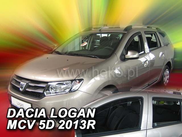 Heko • Ofuky oken Dacia Logan MCV II 5d 2013- (+zadní) • sada 4 ks