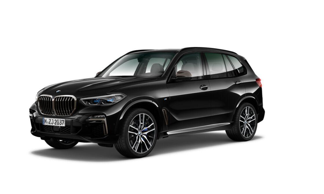 BMW X5 M50d xDRIVE - černá sapphire metalíza