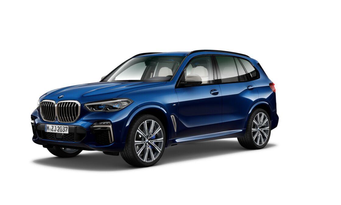 BMW X5 M50d xDRIVE - modrá tanzanite metalíza