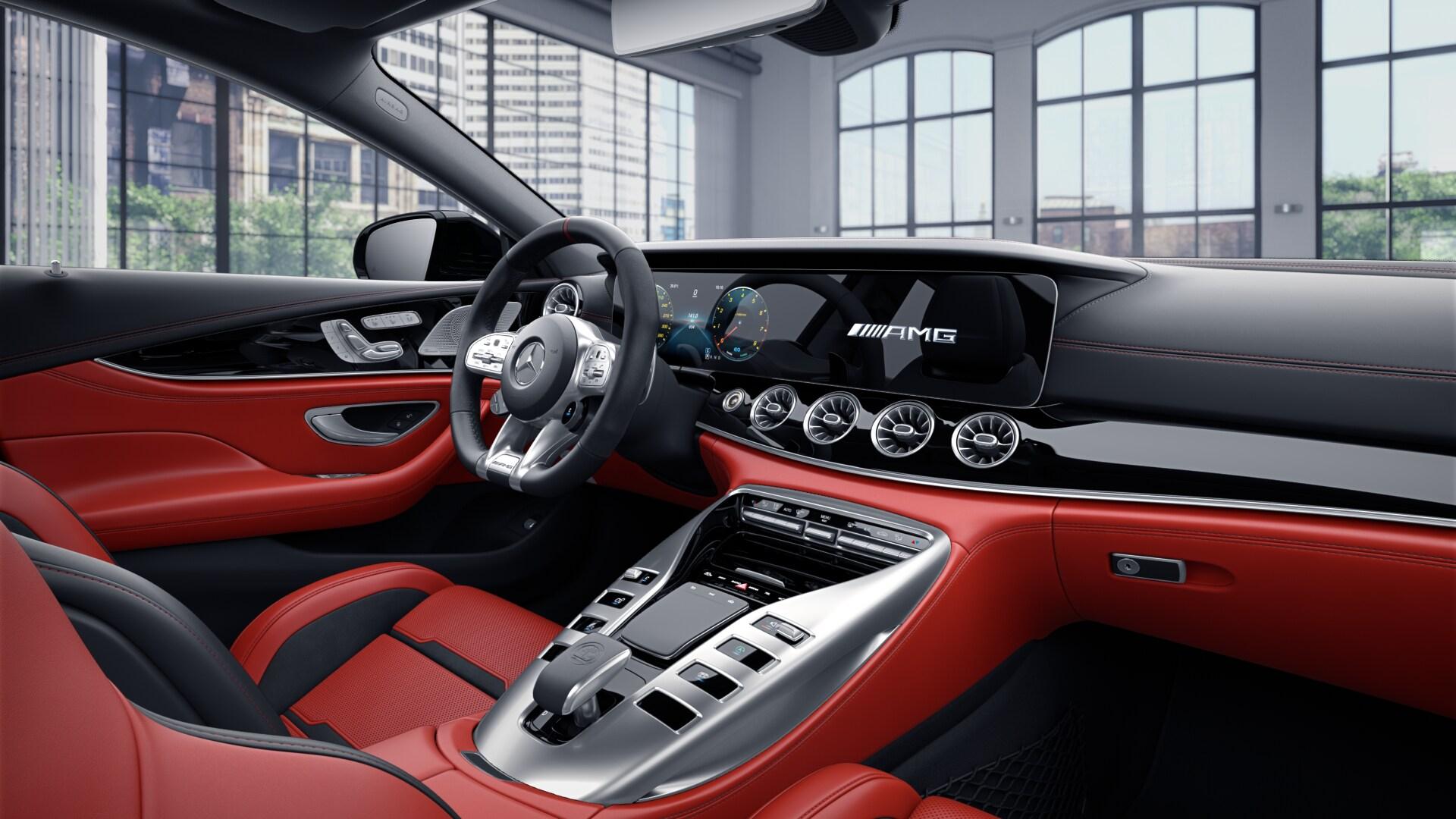 Mercedes AMG GT 43 -  nové sportovní luxusní prémiové 4 dveřové coupé - prodej aut - online autosalon Praha