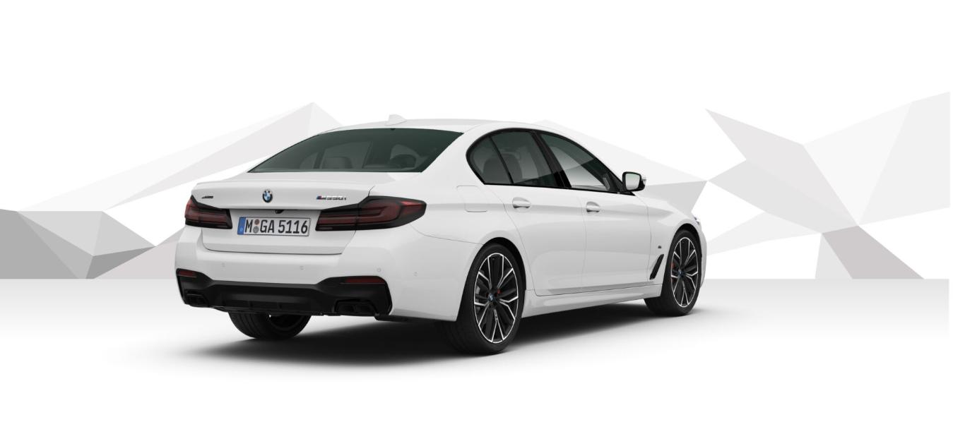 BMW M550i xDRIVE - bílá Alpine White - autoibuy.com