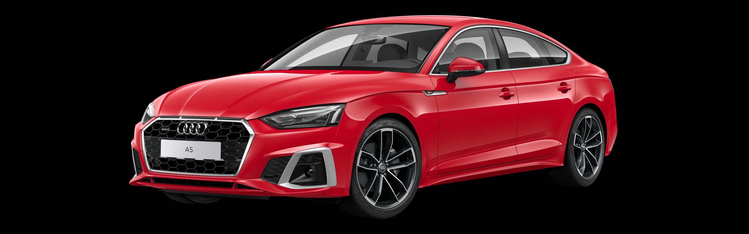 AUDI A5 SPORTBACK 40 TDI QUATTRO S-TRONIC S-LINE - červená Tango metalíza