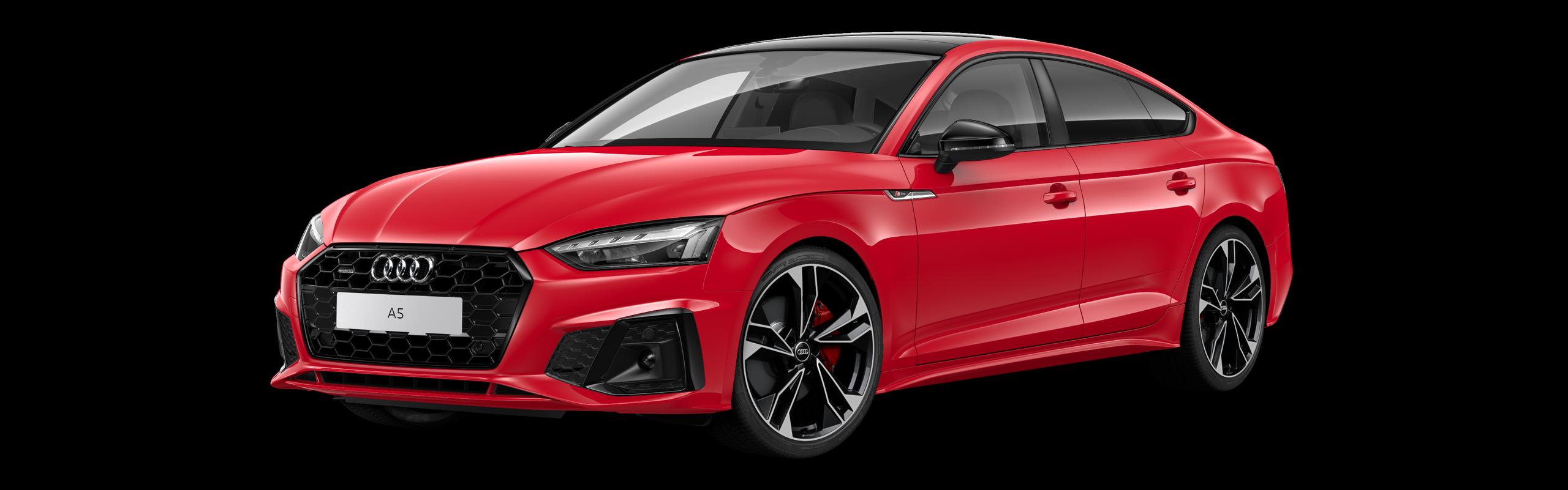 AUDI A5 SPORTBACK 45 TFSI QUATTRO S-TRONIC S-LINE - červená Tango metalíza