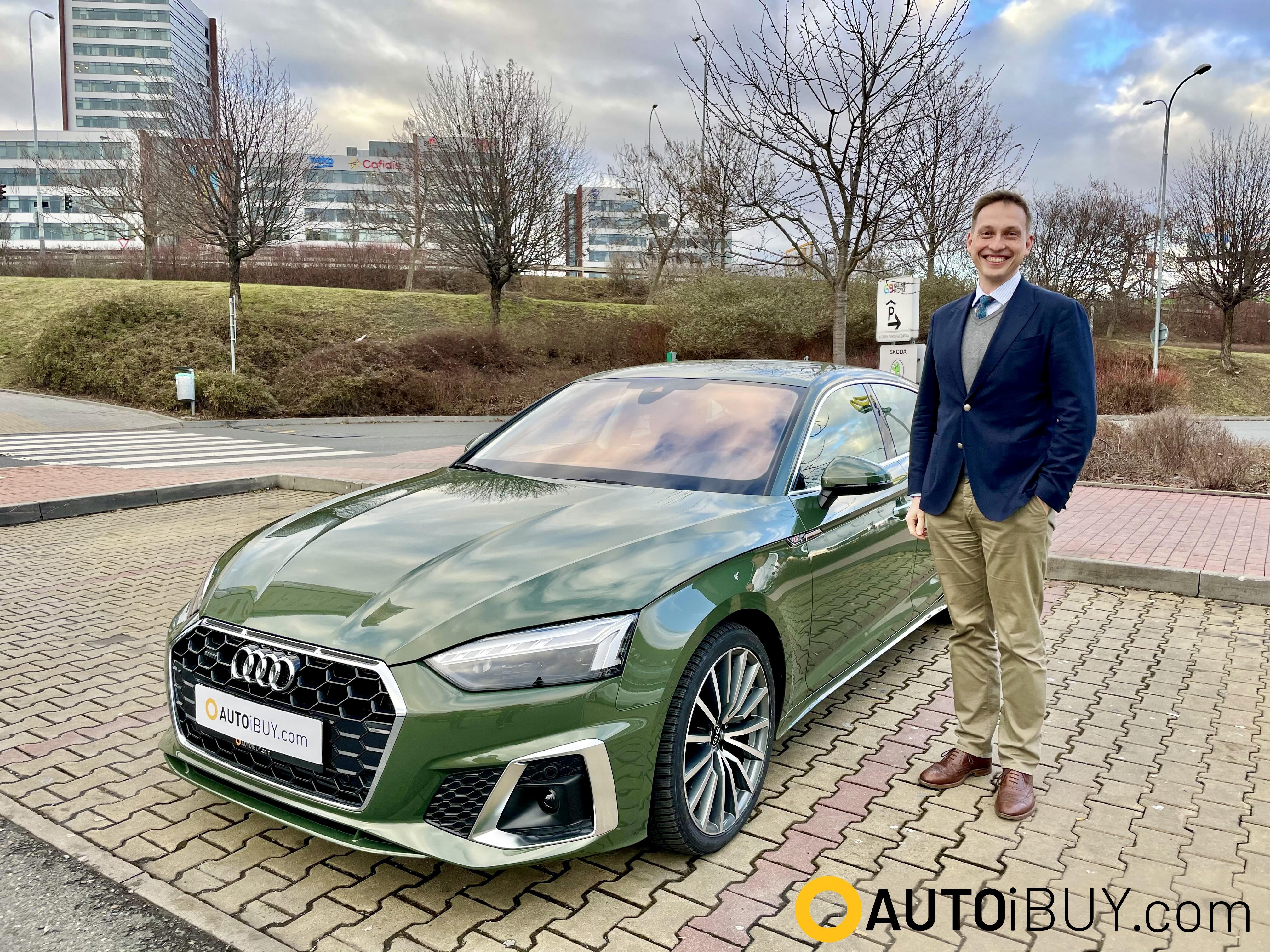 Audi A5 Sportback | fotka z předání | reference | nové 4-dveřové sportovní coupé