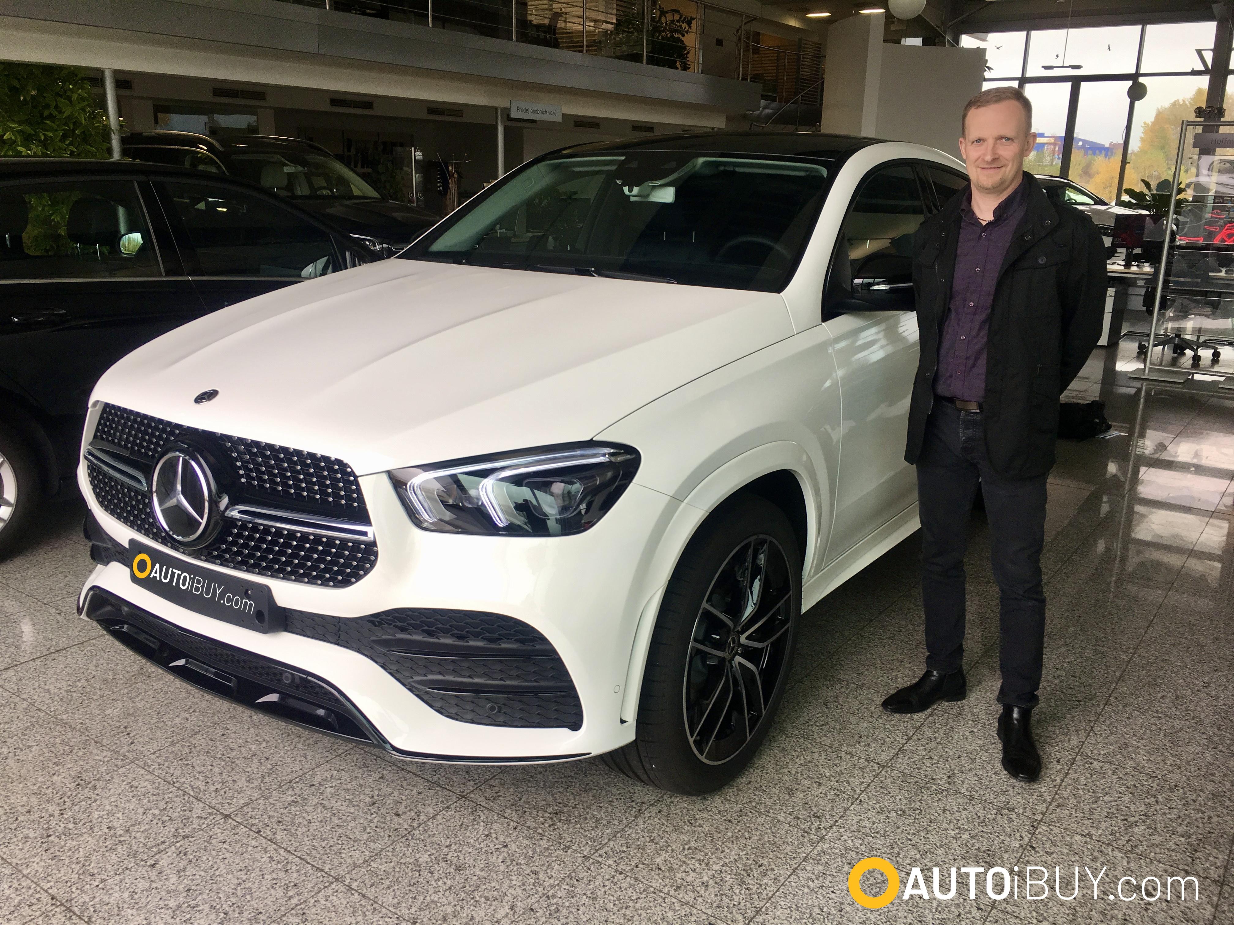 Mercedes GLE coupé 400d AMG | nové auto | reference | fotka z předání klientovi | nákup online