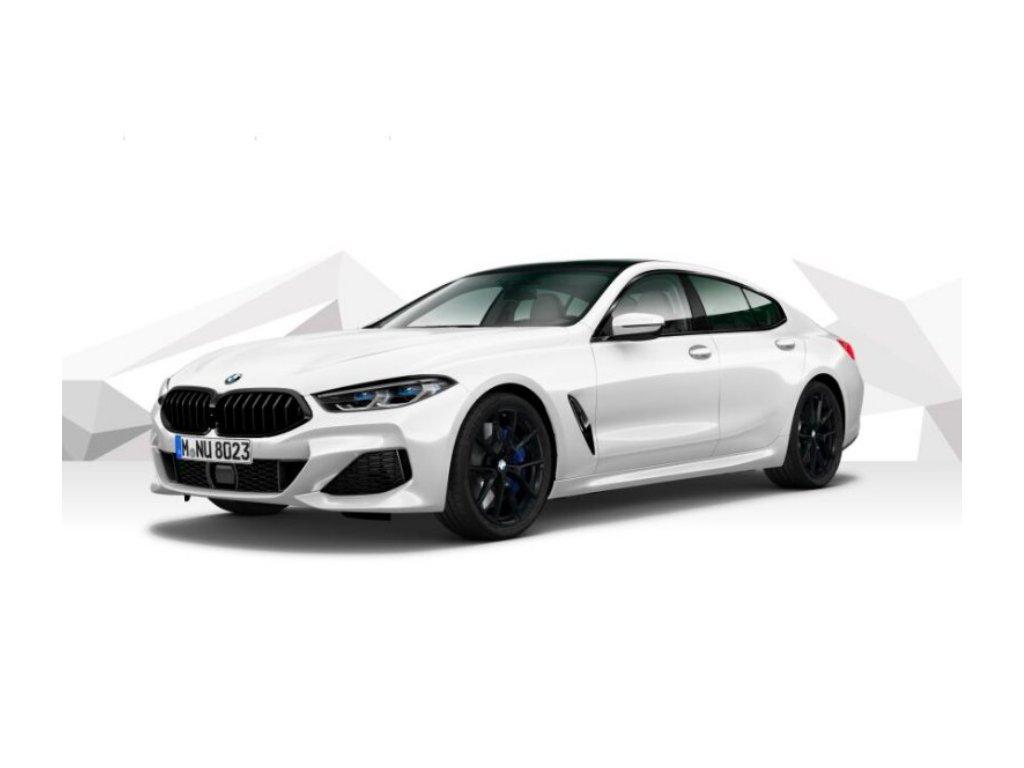 BMW 840d xDRIVE GRAN COUPÉ Mpaket - bílá metalíza mineral
