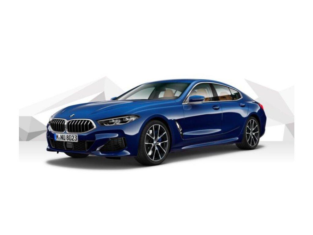 BMW 840d xDRIVE GRAN COUPÉ Mpaket - modrá metalíza tanzanite