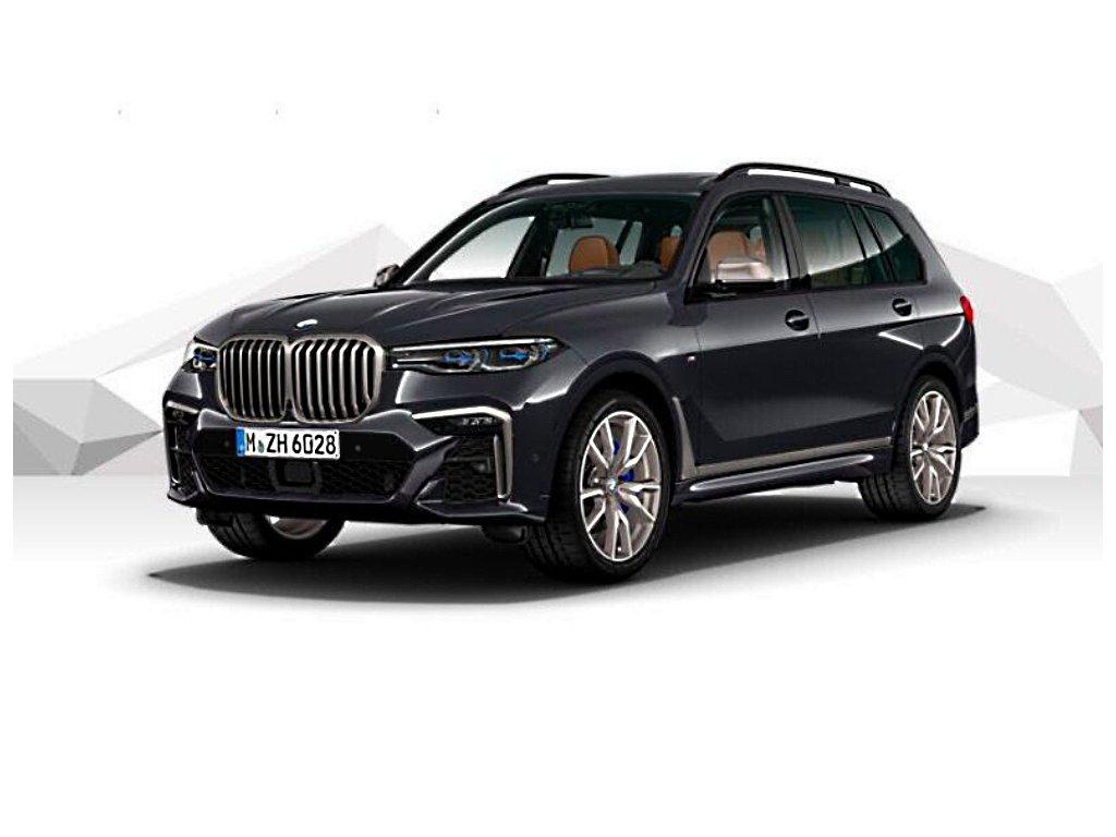 BMW X7 M50d xDRIVE Mpaket - černá metalíza carbon