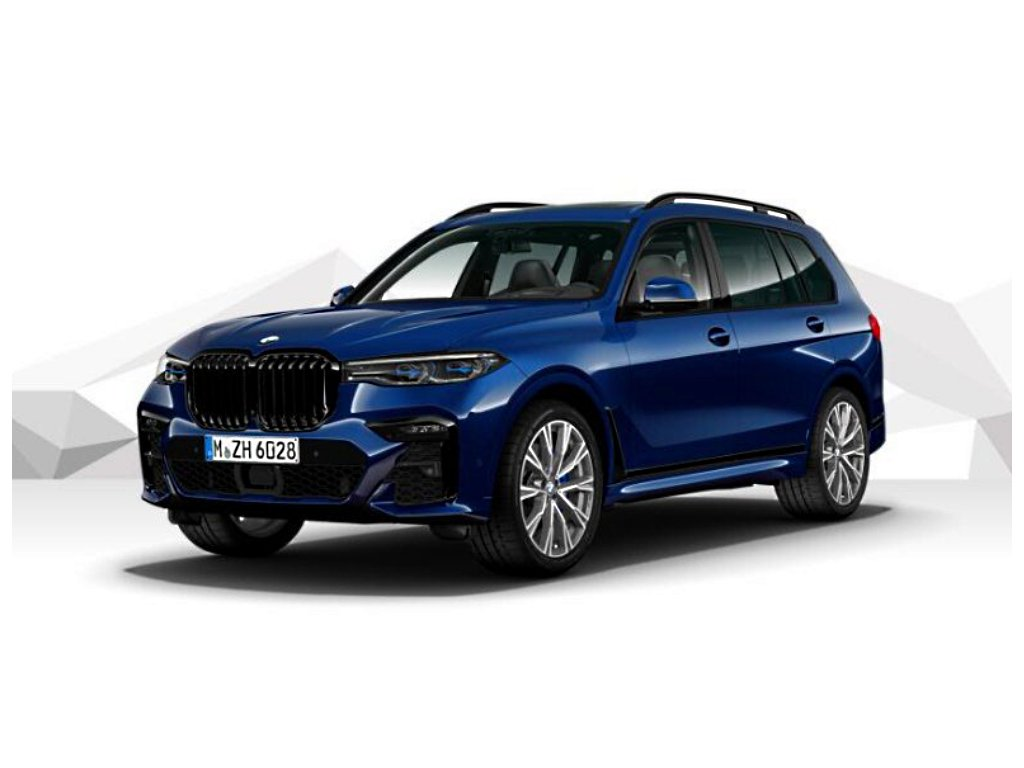 BMW X7 M50d xDRIVE Mpaket - modrá metalíza tanzanite