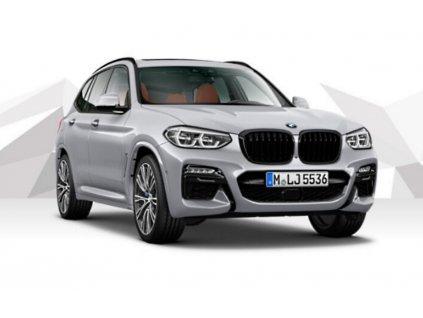 "BMW X3 M40i xDrive - stříbrná ""Glacier Silver"" metalíza"