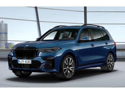BMW X7 40d xDRIVE Mpaket - modrá metalíza Phytonic Blue