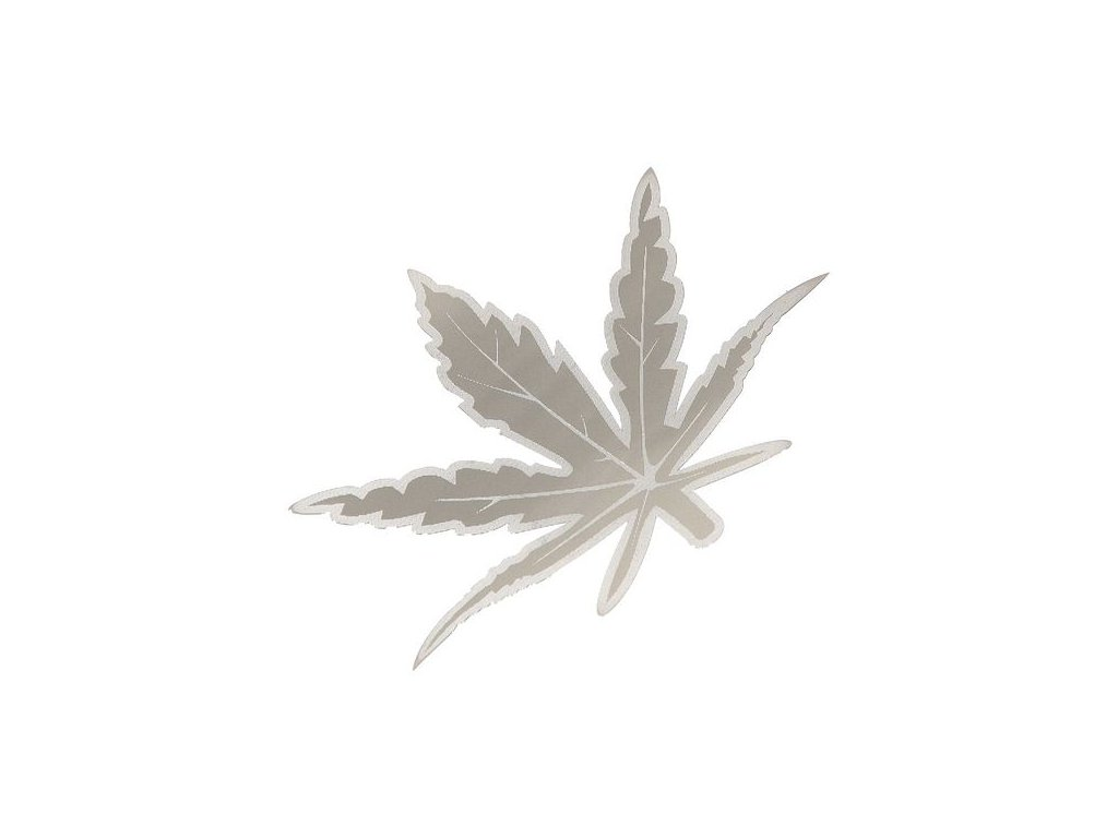 85446 znak leaf samolepici metal velky