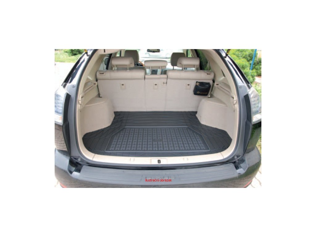 Gumový koberec do kufru Peugeot 107