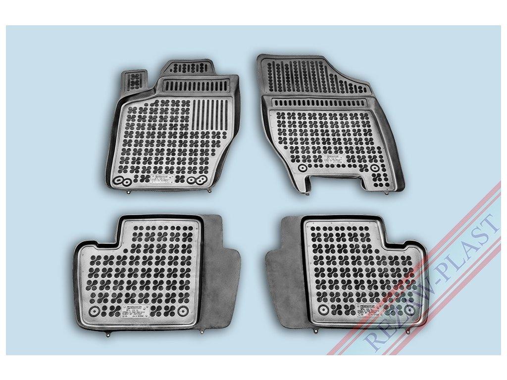 Gumové koberce Citroen C4 I HB 2004-2010 se zvýšeným okrajem
