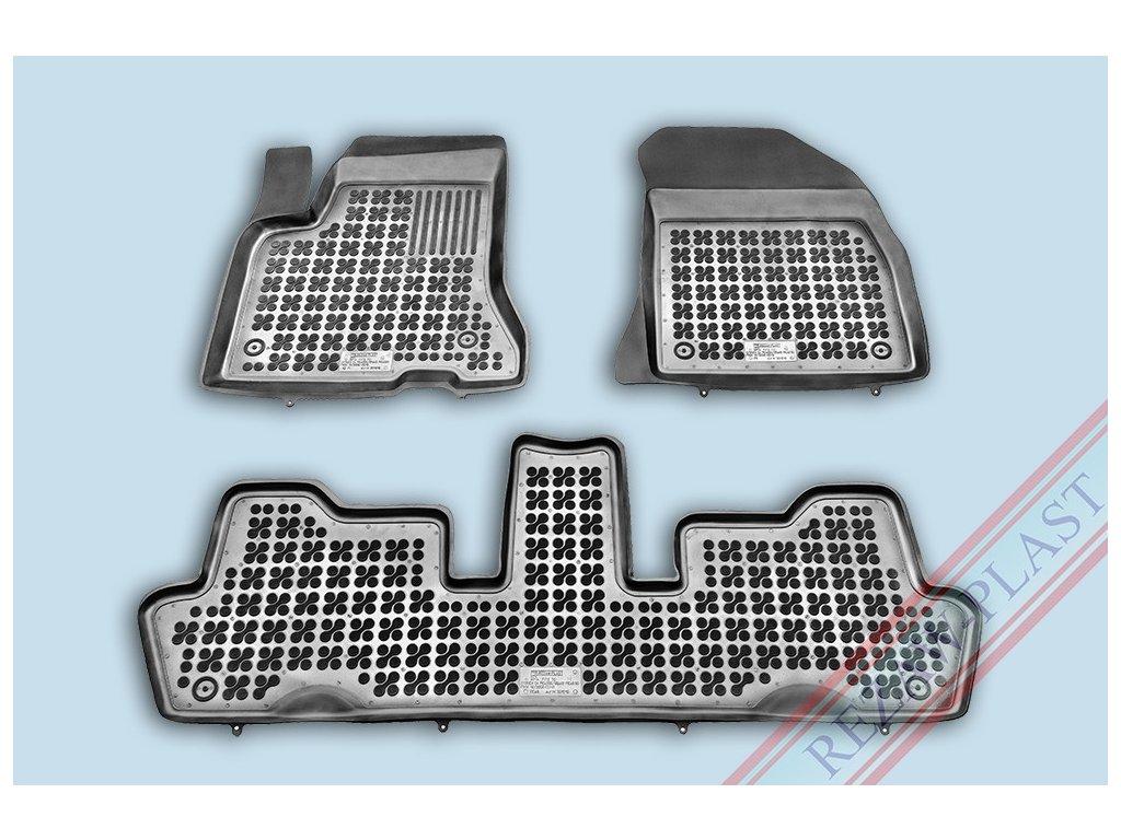 Gumové koberce Citroen C4 PICASSO 2006-2013 se zvýšeným okrajem