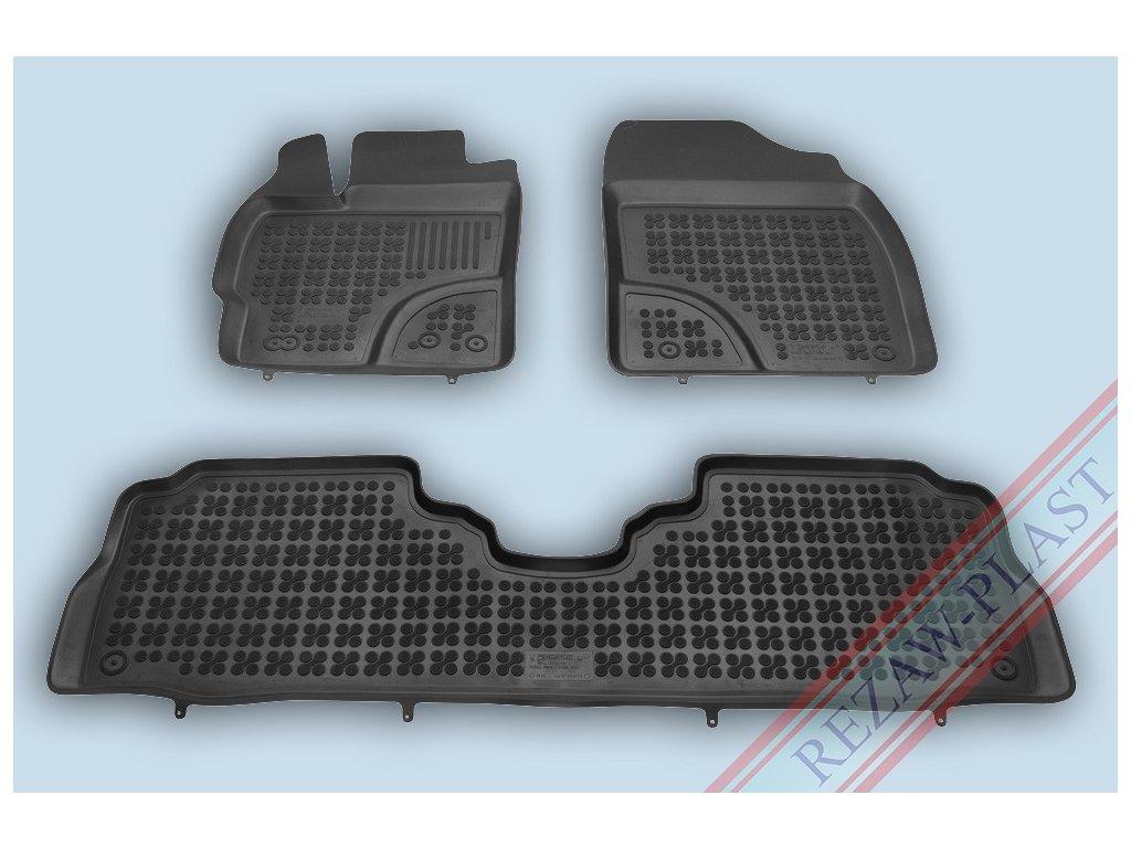 Gumové koberce Toyota PRIUS + 2011- se zvýšeným okrajem