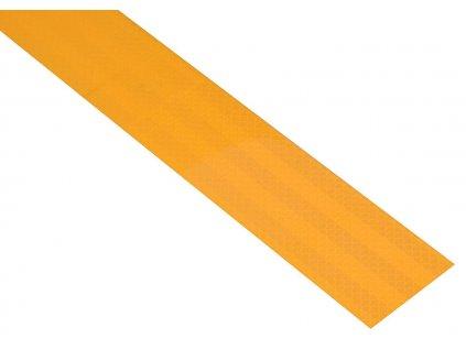 59789 6 samolepici paska reflexni 1m x 5cm zluta